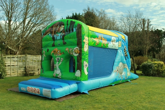 Dinosaur Fun Run Bouncy Castle