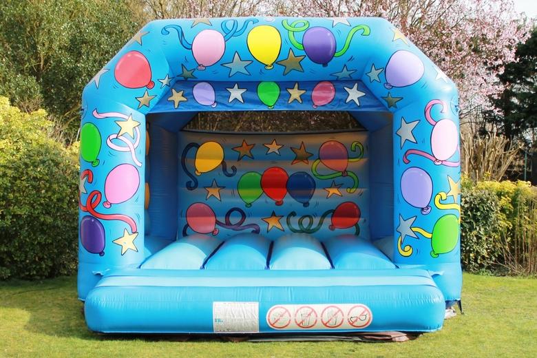 Blue Celebration Bouncy Castle