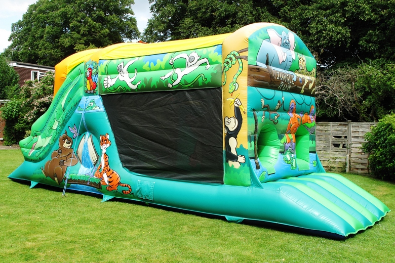 Jungle Fun Run Bouncy Castle