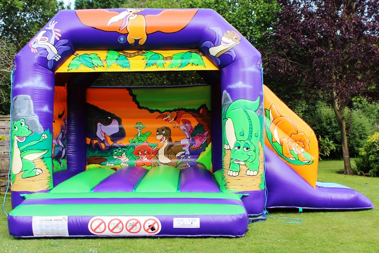 Dinosaur Slide Combi Bouncy Castle