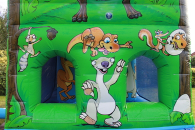 Front Dinosaur Fun Run Bouncy Castle