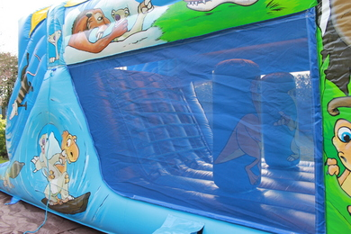 Outside Right Dinosaur Fun Run Bouncy Castle Hire