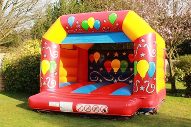 Childrens Red Celebration Bouncy Castle