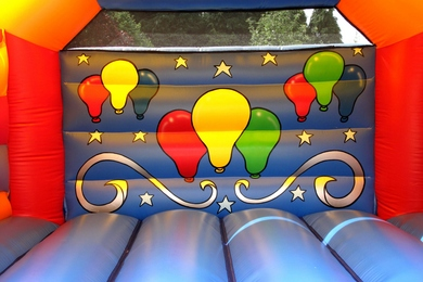 Balloons Celebration Bouncy Castle Inside