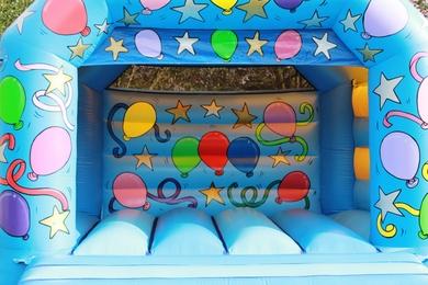 Blue Bouncy Castle Celebration