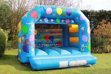 Blue Celebration Bouncy Castle Hire