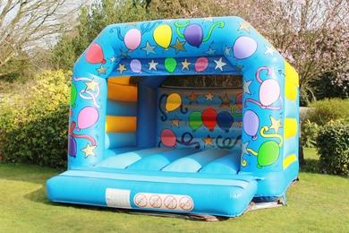 Childrens Blue Celebration Bouncy Castle