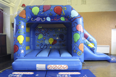 Blue Slide Combi Bouncy Castle