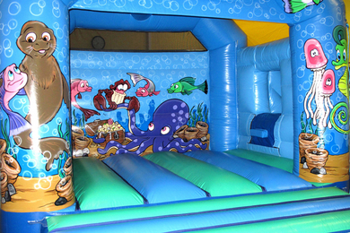Inside Right Seaworld Slide Combi Bouncy Castle