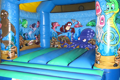 Inside Seaworld Slide Combi Bouncy Castle