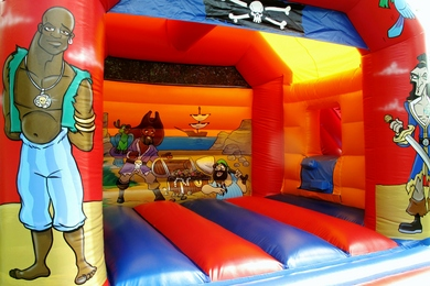 Inside Left Pirate Slide Combi Bouncy Castle