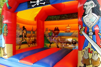 Inside Right Pirate Slide Combi Bouncy Castle
