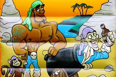 Pirate Slide Combi Bouncy Castle Hire