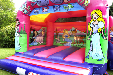 Princess Bouncy Castle With Slide Hire