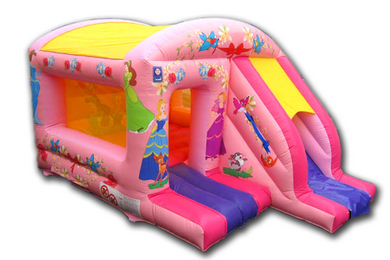 Princess Box Jump & Slide Bouncy Castle