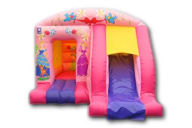 Princess Box Jump & Slide Bouncy Castle Front