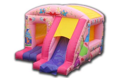 Princess Box Jump & Slide Bouncy Castle Slide