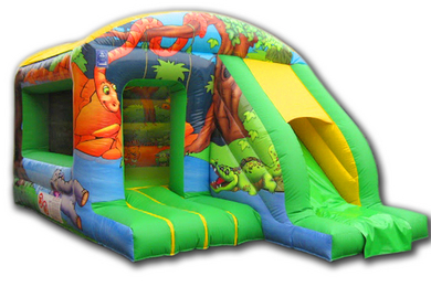 Jungle Box Jump & Slide Bouncy Castle