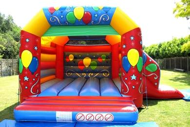 Balloons Slide Combi Bouncy Castle