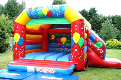 Balloons Bouncy Castle With Slide
