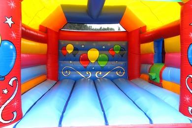 Inside Balloons Bouncy Castle With Slide