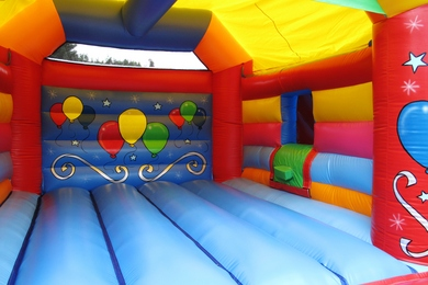 Inside Right Balloons Bouncy Castle With Slide