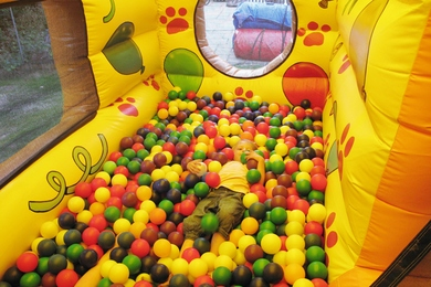 Inside Right Bouncy Castle With Ball Pond