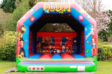 Adult Circus Bouncy Castle Hire
