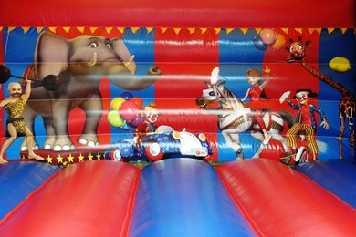 Inside Back Adult Circus Bouncy Castle