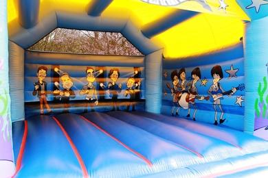 Inside Adult Rock Bouncy Castle
