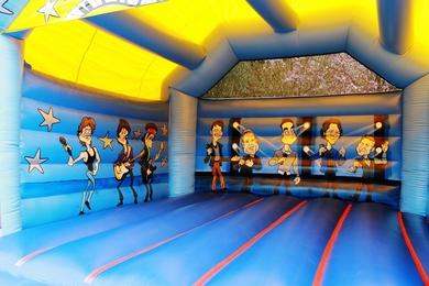 Inside Bouncy Castle Adult Rock