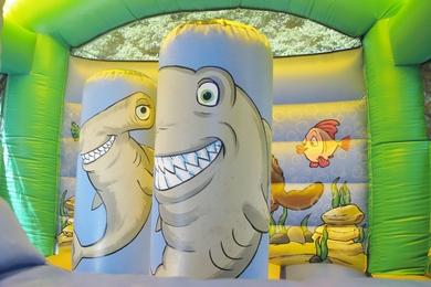 Inside Sea Bounce & Slide Bouncy Castle