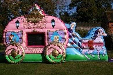 Princess Carriage Bouncy Castle Hire