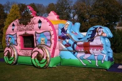 Princess Carriage Bouncy Castle Slide