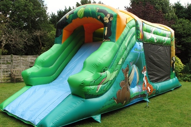 Jungle Fun Run Bouncy Castle Slide