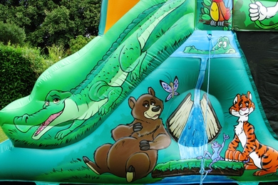 Jungle Fun Run Bouncy Castle Hire