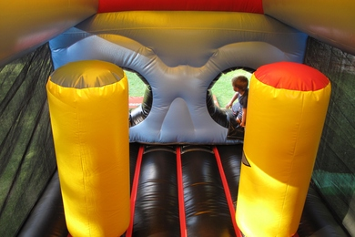 Inside Pirate Fun Run Bouncy Castle