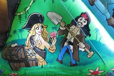 Outside Left Art Pirate Fun run Bouncy Castle