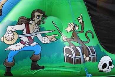 Outside Right Art Pirate Bouncy Castle