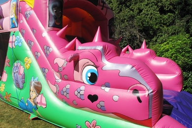Slide Princess Fun Run Bouncy Castle