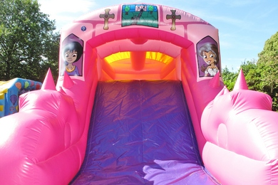 Back Slide Princess Fun Run Bouncy Castle