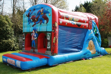 SuperHero Fun Run Bouncy Castle Hire