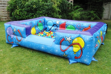 Big Blue Inflatable Ball Pond Hire