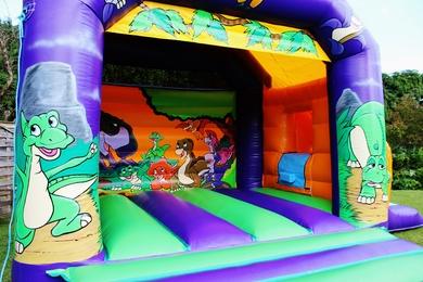 Dinosaur Slide Combi Bouncy Castle Slide
