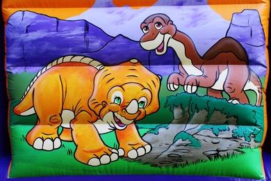 Outside Left Dinosaur Slide Combi Bouncy Castle