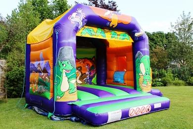 Dinosaur Slide Combi Bouncy Castle Hire