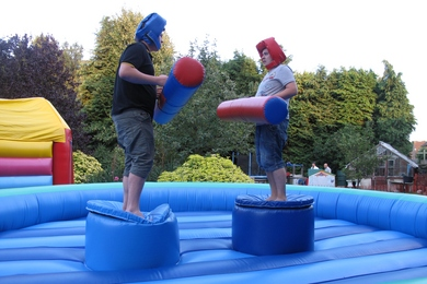 Inside Inflatable Gladiator Duel
