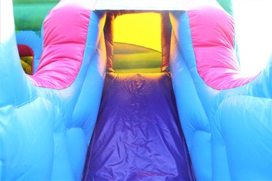 Unicorn Bouncy Castle With Slide Hire