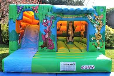 Jungle Cabin Bouncy Castle With Slide Berkshire